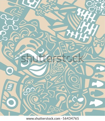 Abstract design. Vector version is in my portfolio.