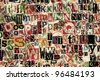 Abstract designed background of newspaper letters clippings - stock photo