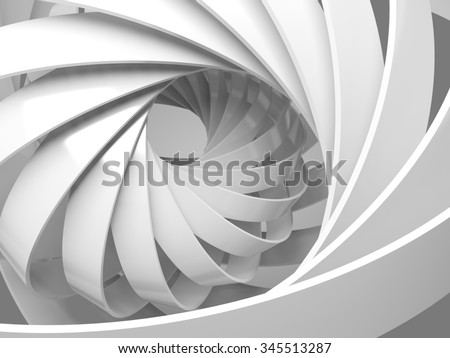 Abstract digital background with round 3d spiral structure
