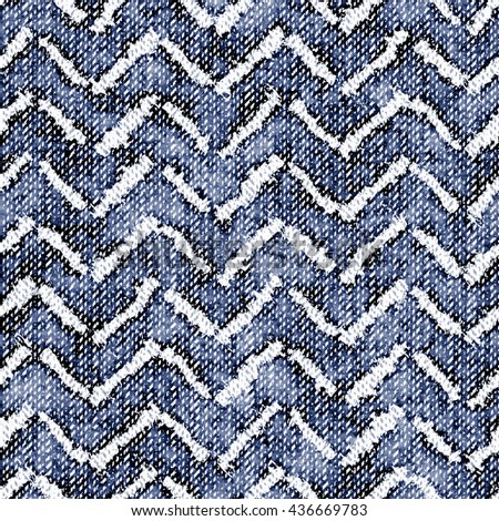 Abstract distressed zigzag seamless pattern.