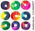 Abstract donut watercolors : illustration collection for graphic. - stock photo