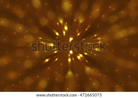 Abstract dynamic gold background illustration technology.
