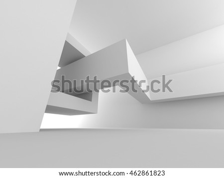 Abstract Empty Room. Modern Design Interior Background. 3d Render Illustration