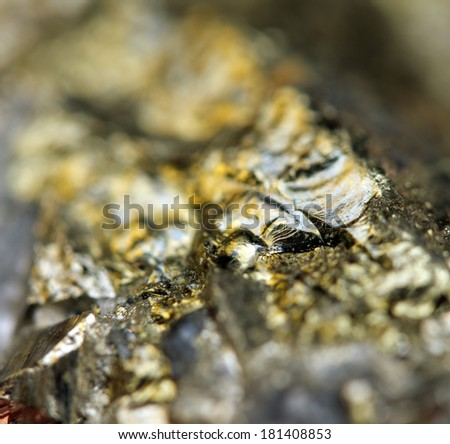 Abstract  fantastic background, magic of a stone, gold metal  (big collection). Macro