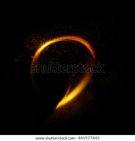 Abstract fiery ring background with luminous swirling backdrop. Glowing spiral. The energy flow tunnel. shine round frame with light circles light effect. glowing cover. Space for your message.