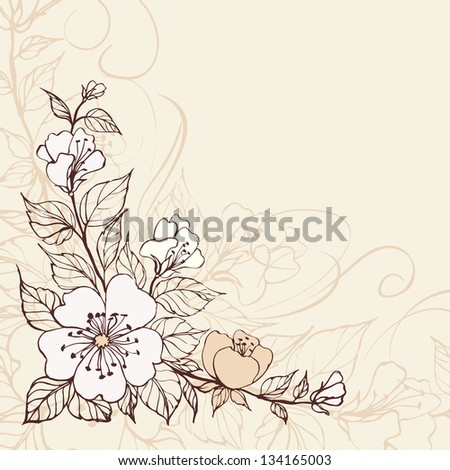 Abstract  flower background. Illustration.