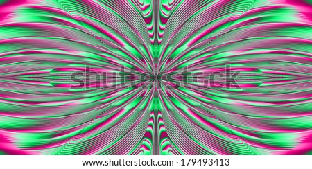 Abstract fractal explosion background with a detailed beaming pattern in high resolution in light green and pink colors