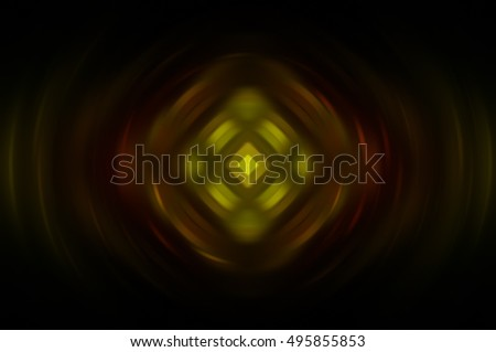 Abstract fractal multicolored background with crossing circles and ovals. disco lights. motion illustration.