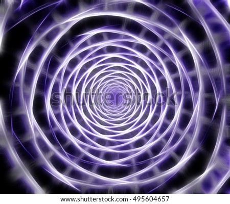 Abstract fractal spiral computer generated image. Digital art for posters, covers, web design