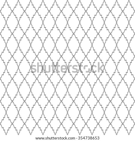 Abstract geometric pattern. A seamless  background. Gray and white ornament.