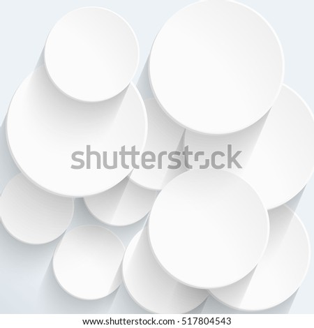 Abstract geometric shape. White Abstract Background