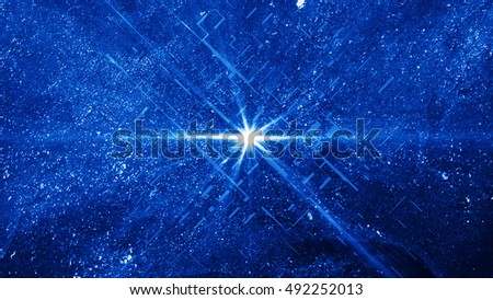 Abstract geometry background. Technology  wallpaper. 3D render backdrop. Explosion of glowing particles. The design for use in the projects business, science, education and technology.