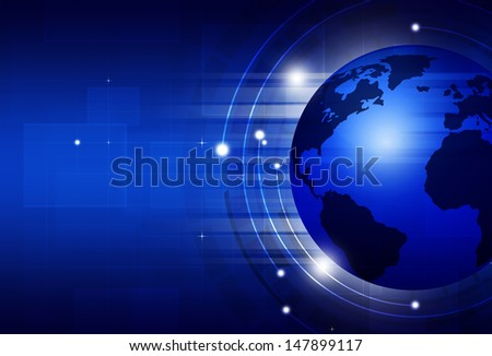 abstract global technology blue business concept entertainment background