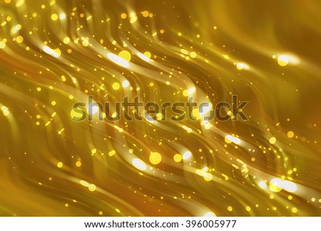 Abstract golden elegant background with glitter and waves