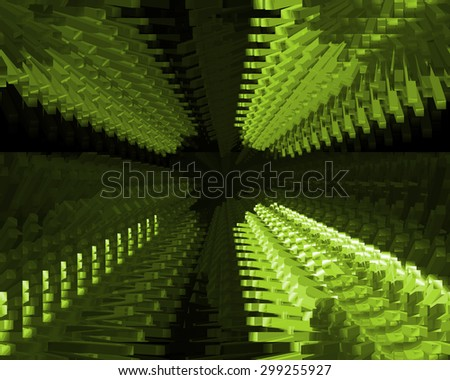 Abstract green technology background for use in design, business, technology,