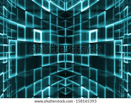 abstract green urbanism luminous background