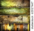 abstract  grunge banners set - stock photo