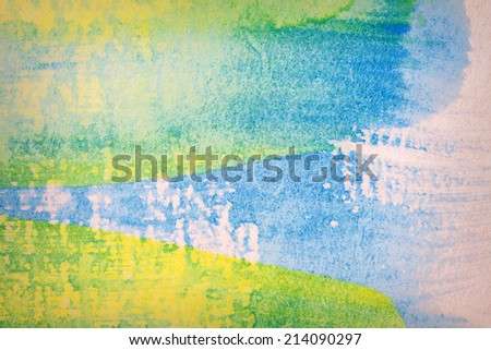 Abstract hand painted art background