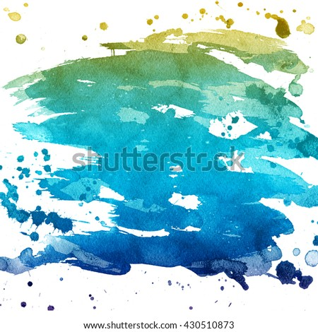 Abstract hand painted backgrounds. Watercolor colorful texture.