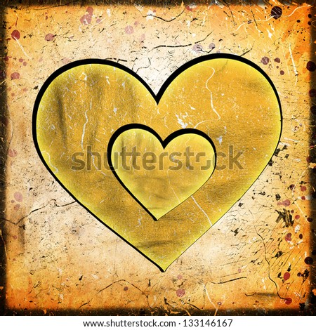 abstract heart on grunge background
