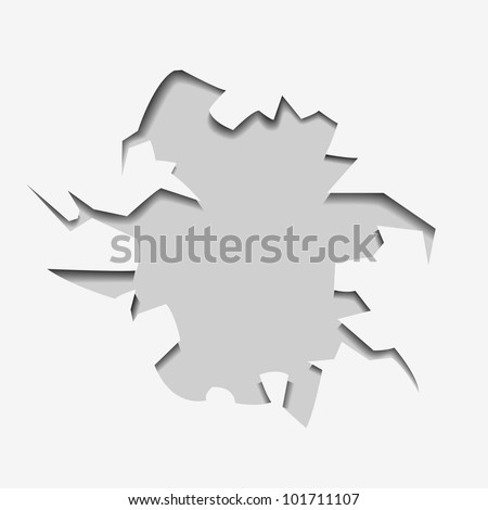 abstract hole with text - vector version in portfolio