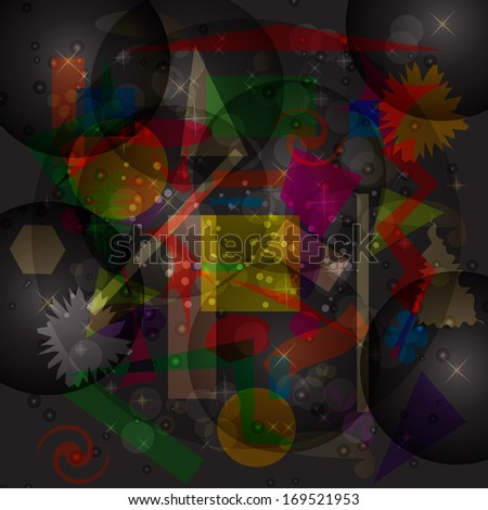 Abstract hypnotic background.