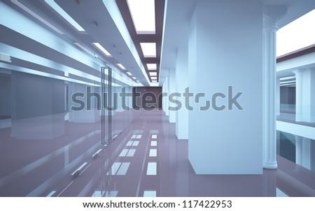 Airport Corridor Indoor Stock Photo 74912359 - Shutterstock