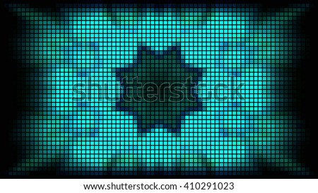 Abstract led lights stage