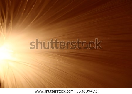Abstract light explosion of fiber wire