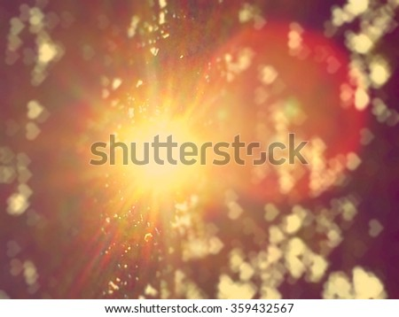 Abstract light flare blur