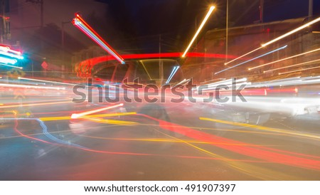 Abstract light painting,Abstract light motion line
