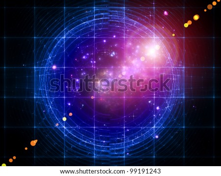 Abstract lights background suitable as a backdrop for projects on space, modern technologies and entertainment