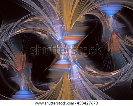 Abstract Magic energy multicolored fractal.