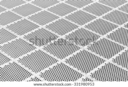 Abstract metal grid background : Silver metal grate background :Steel mesh floor.