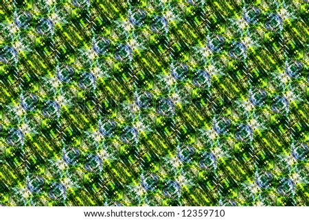 Abstract multicolor figure with patterns. Illustration.