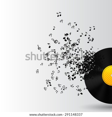 Abstract Music Background  Illustration for Your Design