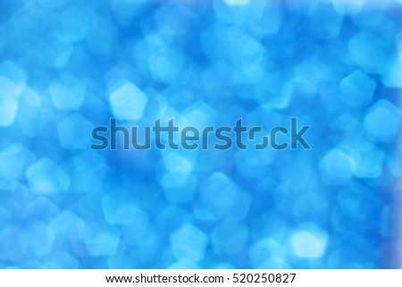 abstract of blue bokeh background.