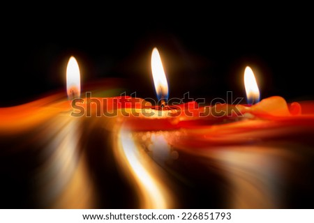 Abstract of candle, fine art concept