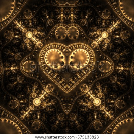 steampunk cogs abstract fantasy - photo #13