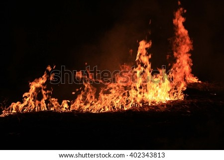 Abstract photo of fire  a black background