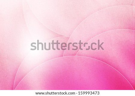 Abstract pink curve background on paper texture