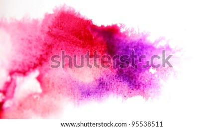 Abstract purple watercolor background