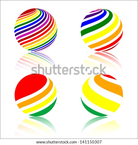 abstract rainbow colorful Sphere