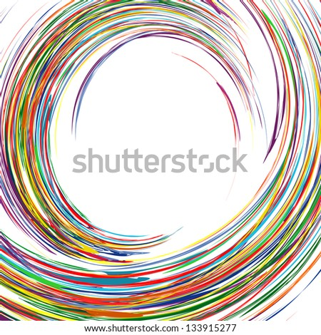 Abstract rainbow curved lines  colorful  background with place for text