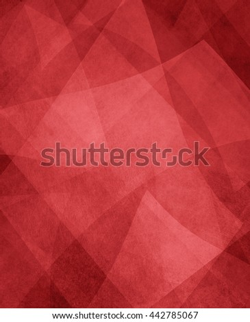 abstract red and white background, random textured rectangles squares and triangle shapes in geometric pattern of angles and layers, rich red background color