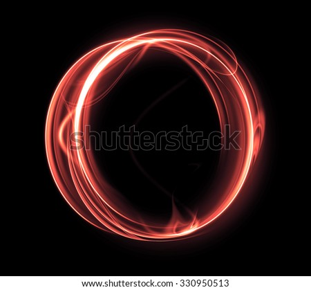 Abstract red circle  on a black background