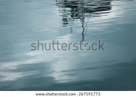 Abstract reflection in the sea water