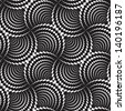 Abstract seamless black and white inverted pattern of diagonal scales. Easy to change the colors. - stock photo