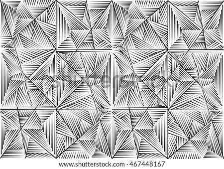 Abstract Seamless geometrical pattern. black and white texture linear,template beautiful.