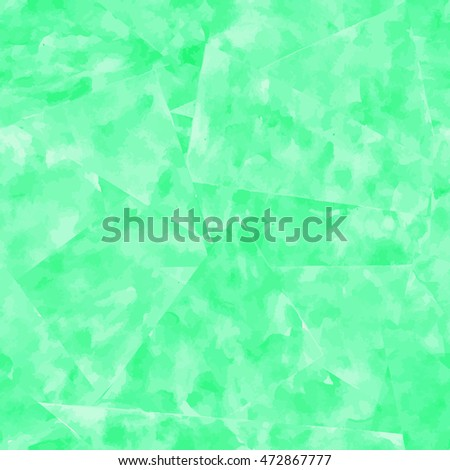 Abstract seamless pattern. Green watercolor background. Illustration.